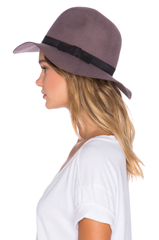 625bc54f777 Lyst - Brixton Dalila Hat in Purple