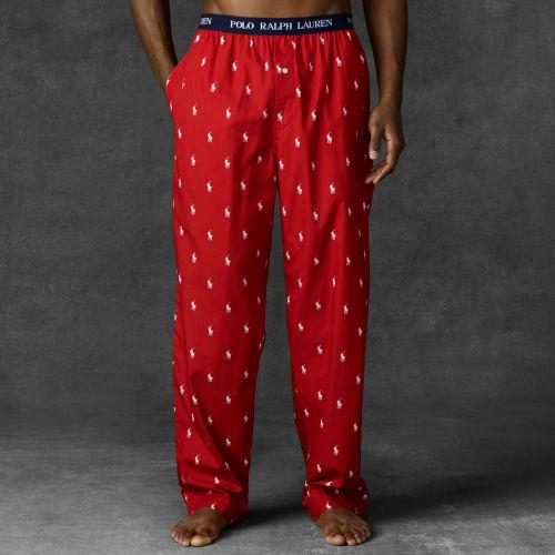Pony Lauren For Men Red Allover Pant Sleep Polo Ralph CdoQErxBeW