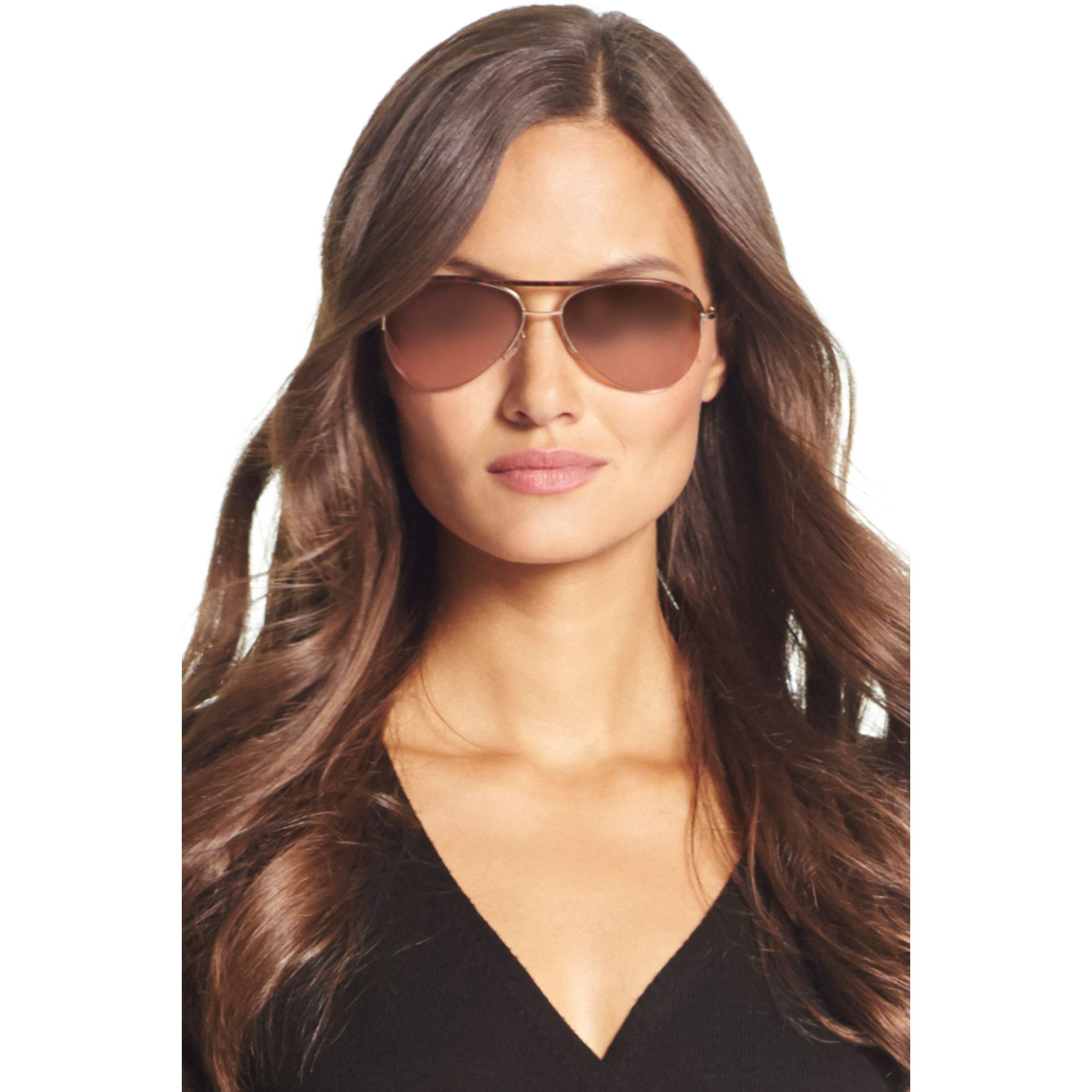 Lyst Diane Von Furstenberg Farrah Mirrored Aviator Sunglasses In