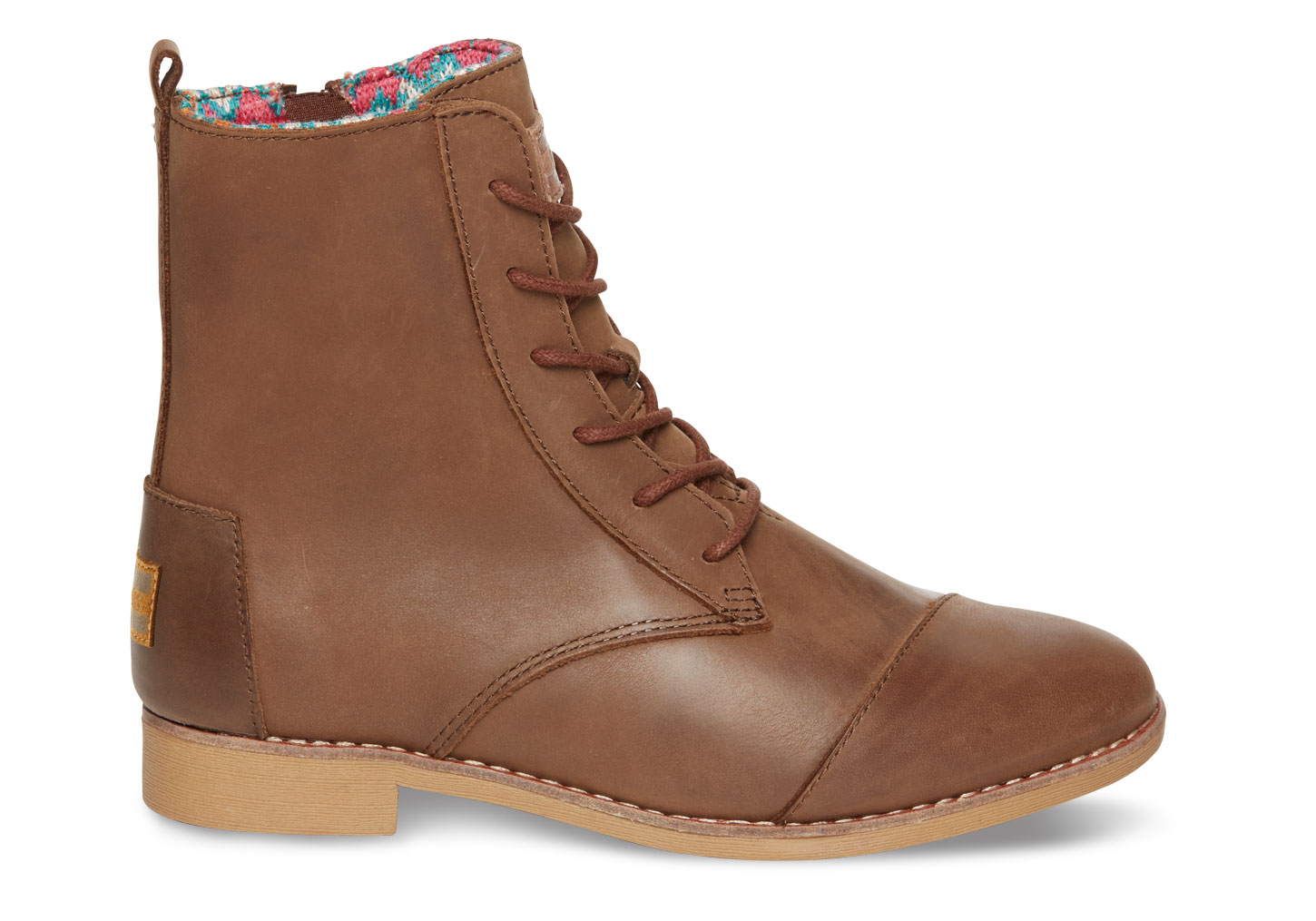 toms brown leather s alpa boots in brown lyst