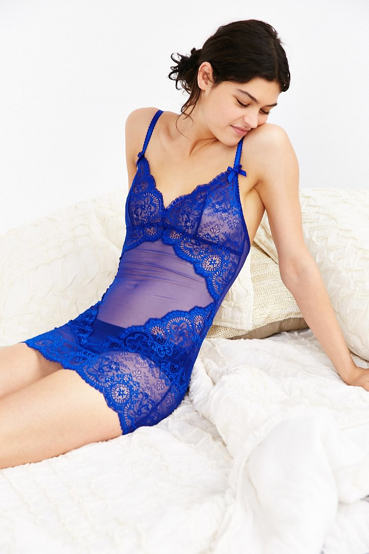 Lyst - L Agent by Agent Provocateur Vanessa Slip in Blue f3a461d8f