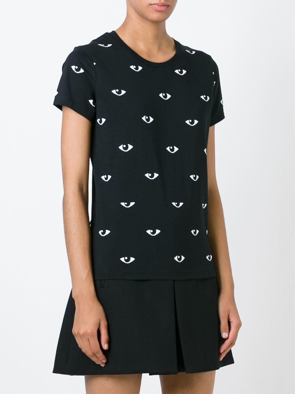 kenzo 39 eyes 39 t shirt in black lyst. Black Bedroom Furniture Sets. Home Design Ideas