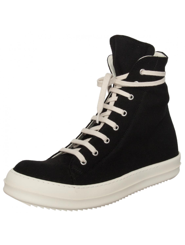 drkshdw by rick owens canvas vegan high top sneaker black