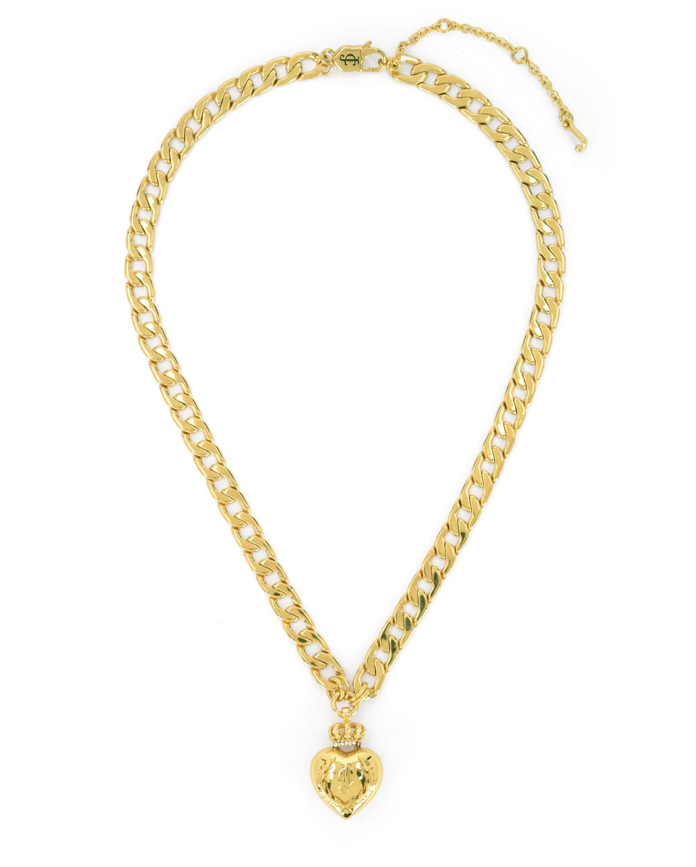 Juicy couture duchess crown heart necklace in metallic lyst for Juicy couture jewelry necklace