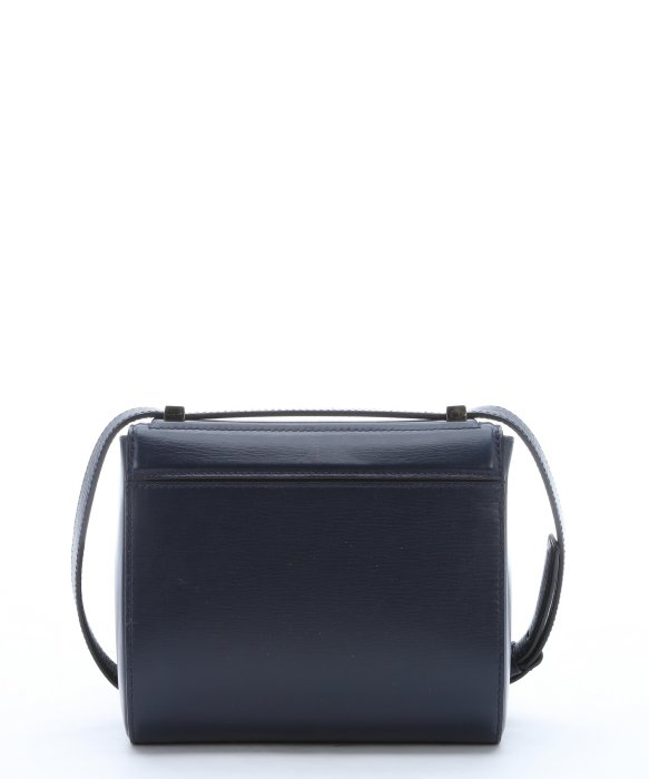 Givenchy Navy Leather 'Pandora' Zip Detail Small Crossbody Bag in ...