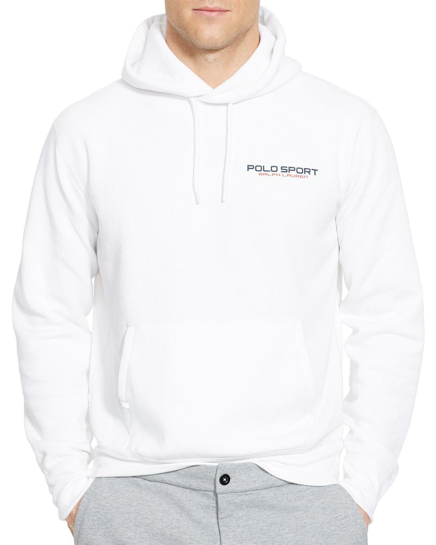 e66619b5 Ralph Lauren White Polo Sport Fleece Pullover Hoodie for men