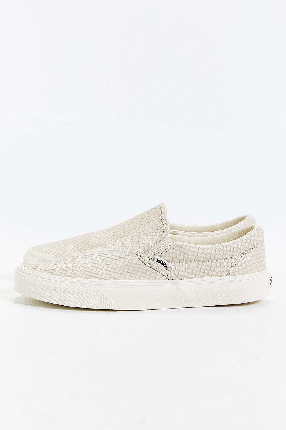 slip on vans leather snake