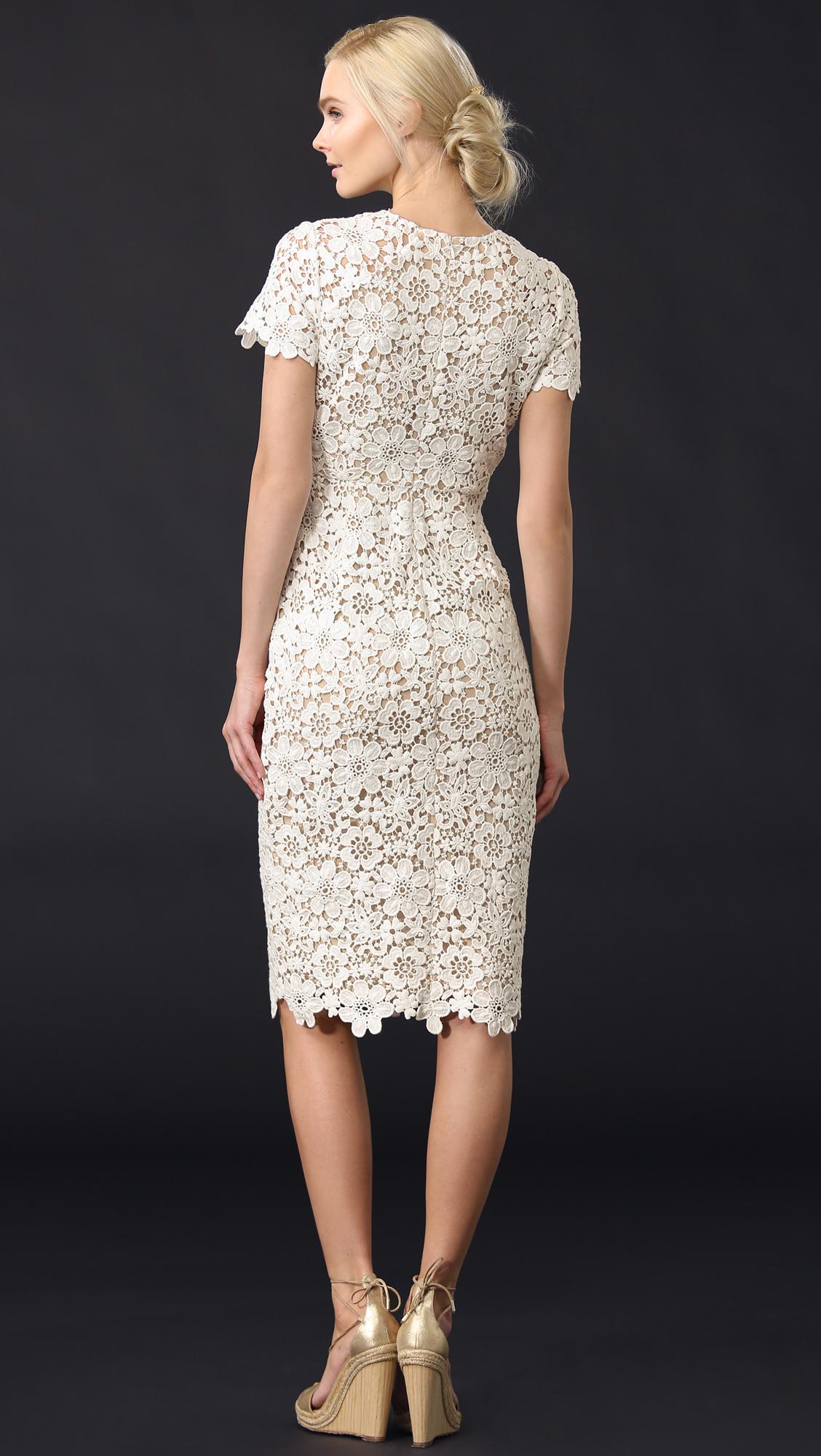 Shoshanna Beaux Lace Dress Lyst