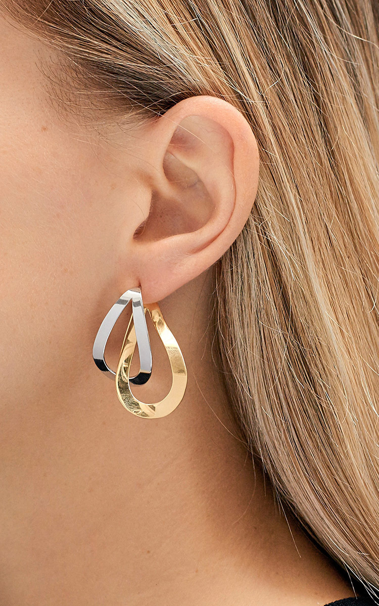 Charlotte Chesnais Gold Vermeil And Silver Earring Uo2APGajj