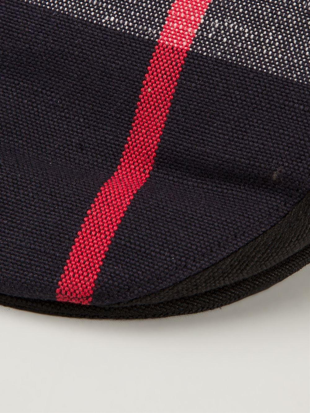 b58d00ef881 Burberry Check Flat Cap in Black for Men