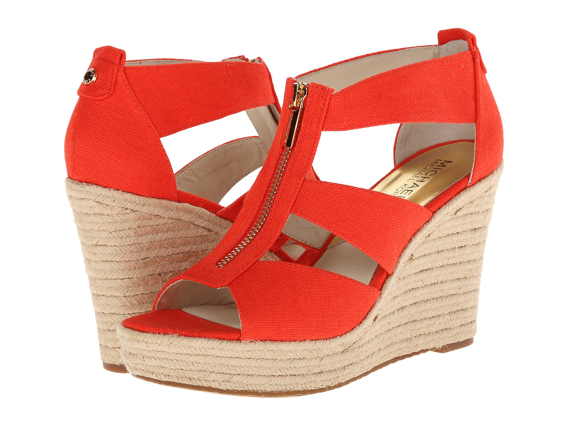 a4f6f2ae417 Lyst - MICHAEL Michael Kors Damita Wedge in Red