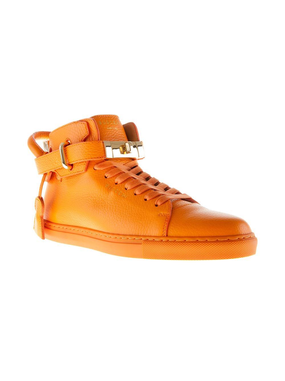 Buscemi 100mm Hitop Sneakers in Yellow