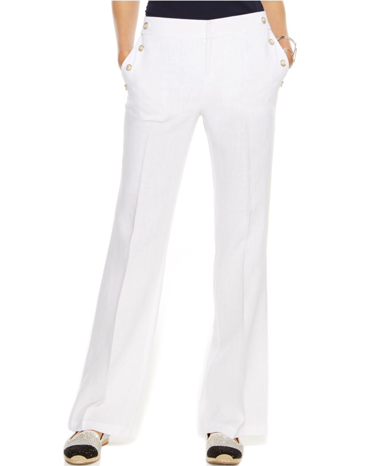 Inc international concepts Petite Wide-leg Linen Sailor Pants in ...
