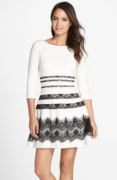 Lyst Erin Erin Fetherston Millie Ponte Amp Lace Fit