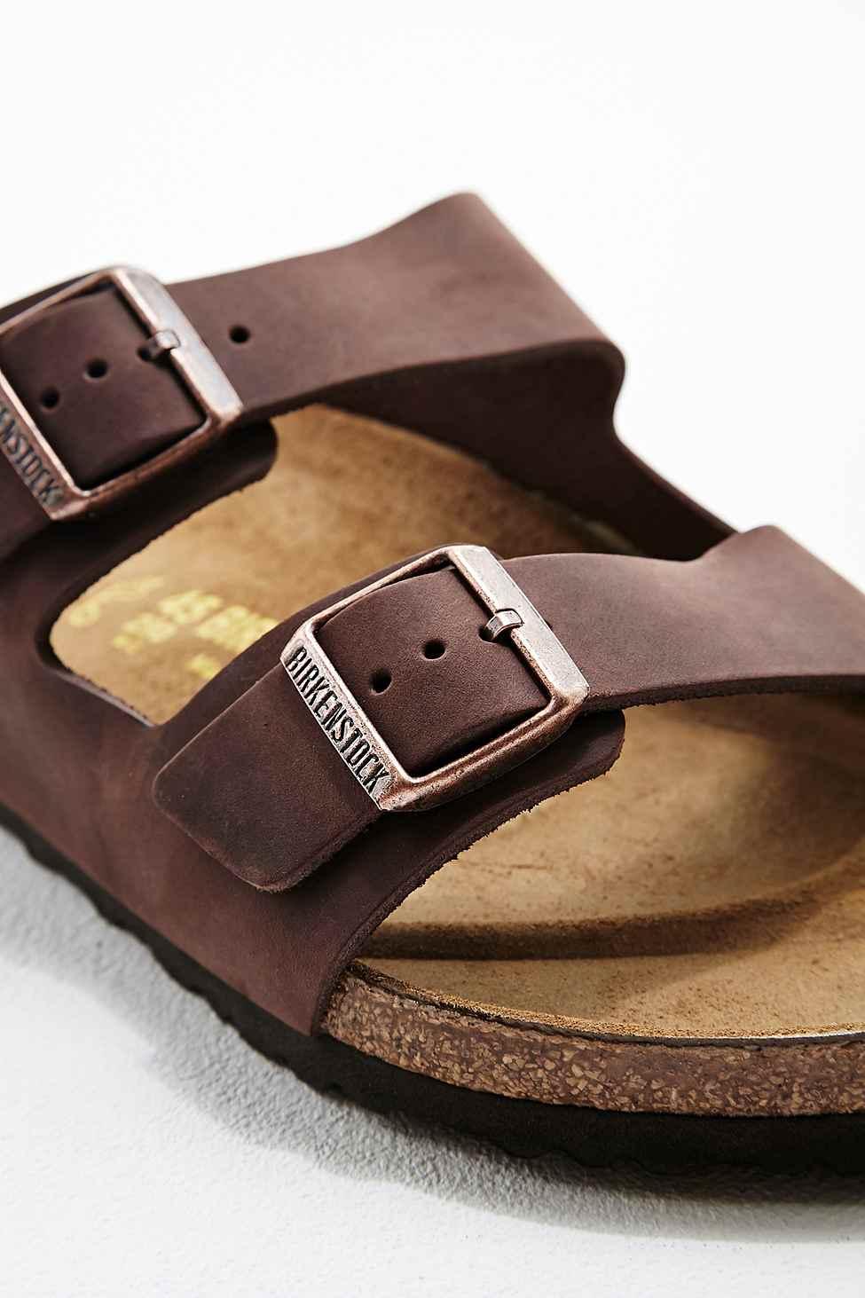 c479a4600b84 Birkenstock Arizona Habana Oiled Leather Sandals in Chocolate in ...