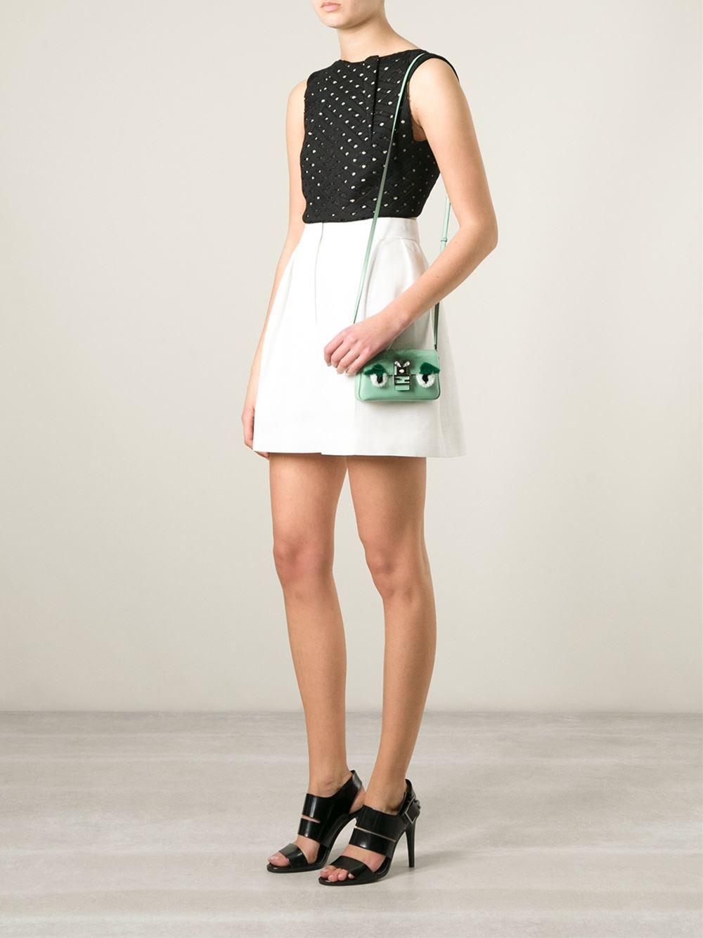 6855ec138a Lyst - Fendi Micro  Monster Baguette  Shoulder Bag in Green
