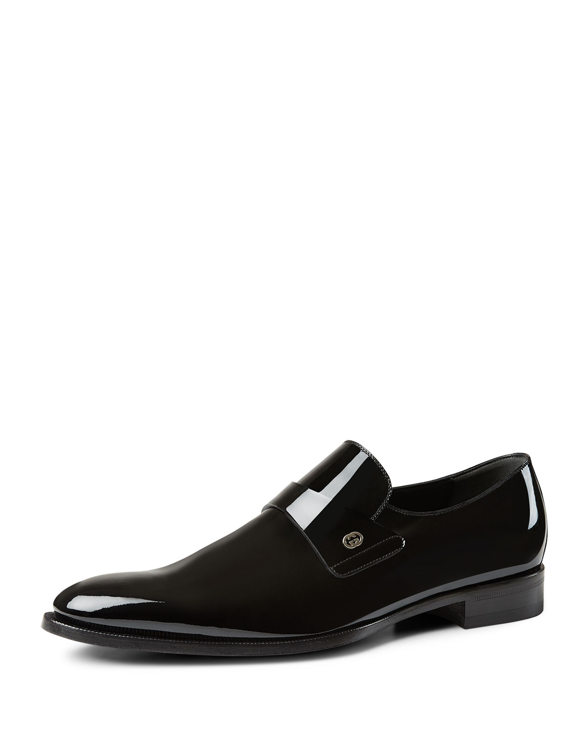 Lyst Gucci Patent Leather Loafer In Black For Men