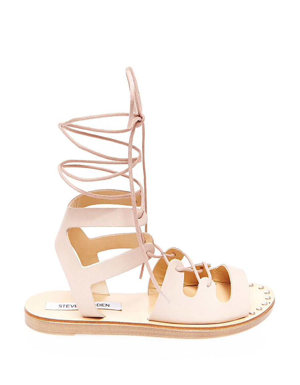 Steve Madden Rella Leather Gladiator Sandals In Natural Lyst