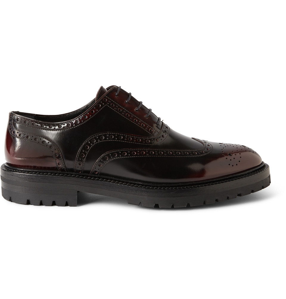 Lyst Burberry Prorsum Burnished Glossedleather Brogues