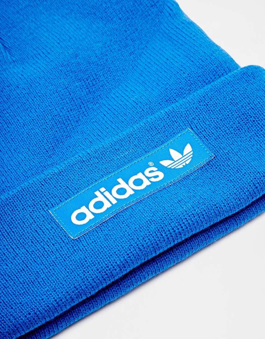 Lyst - Adidas Originals Logo Beanie Hat M30732 in Blue for Men