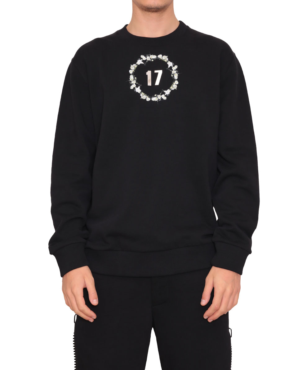 lyst givenchy cotton sweatshirt with 17 print in black for men. Black Bedroom Furniture Sets. Home Design Ideas