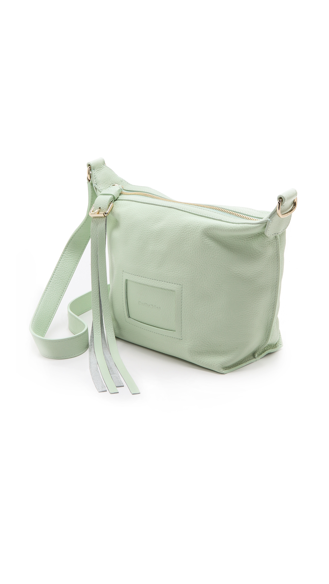 See By Chloé Alix Small Zipped Cross Body Bag  in Green