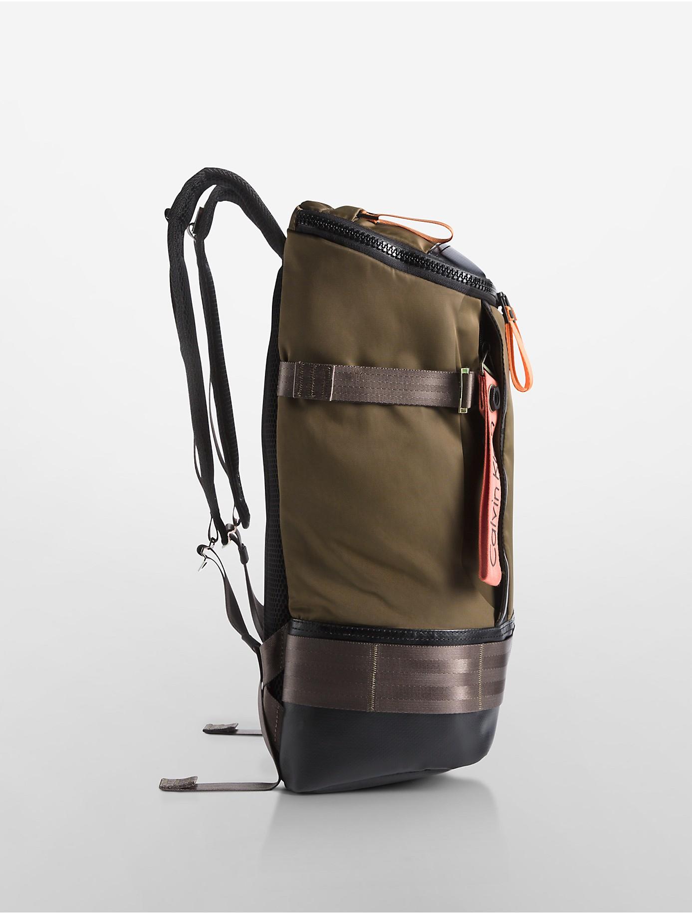 Calvin Klein Jeans Pilot Flap Backpack In Natural For Men
