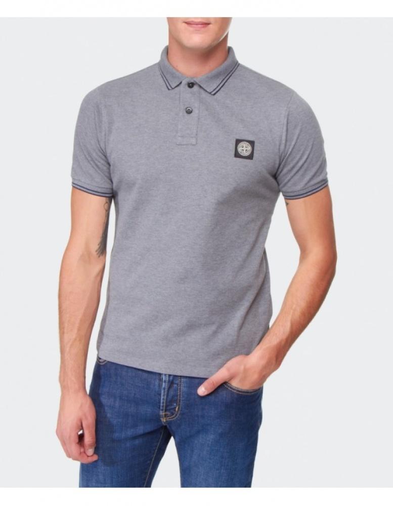 340e365c3e7 Stone Island Slim Fit Polo Shirt in Gray for Men - Lyst