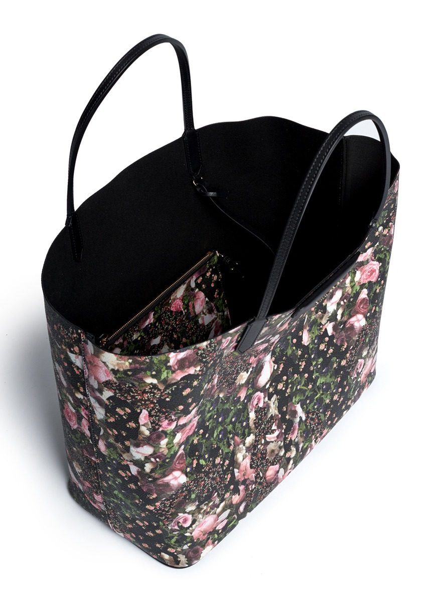 c712ff2270 Lyst - Givenchy Antigona Floral Print Tote in Pink