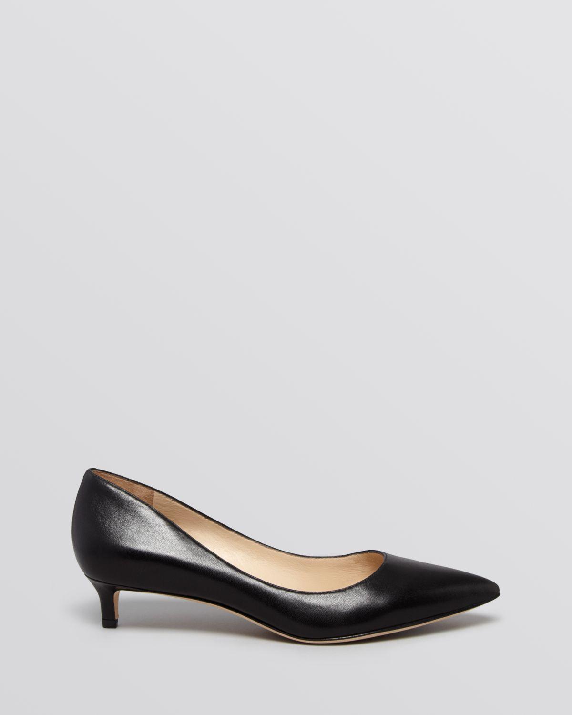 Lyst - Via Spiga Pointed Toe Pumps - Hue Kitten Heel in Black
