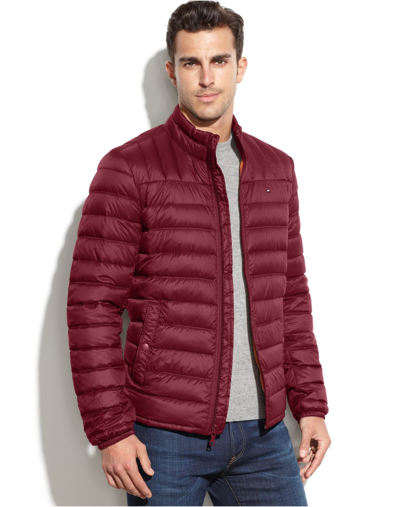 6213ef655 Tommy Hilfiger Red Big And Tall Down Quilted Packable Down Coat for men