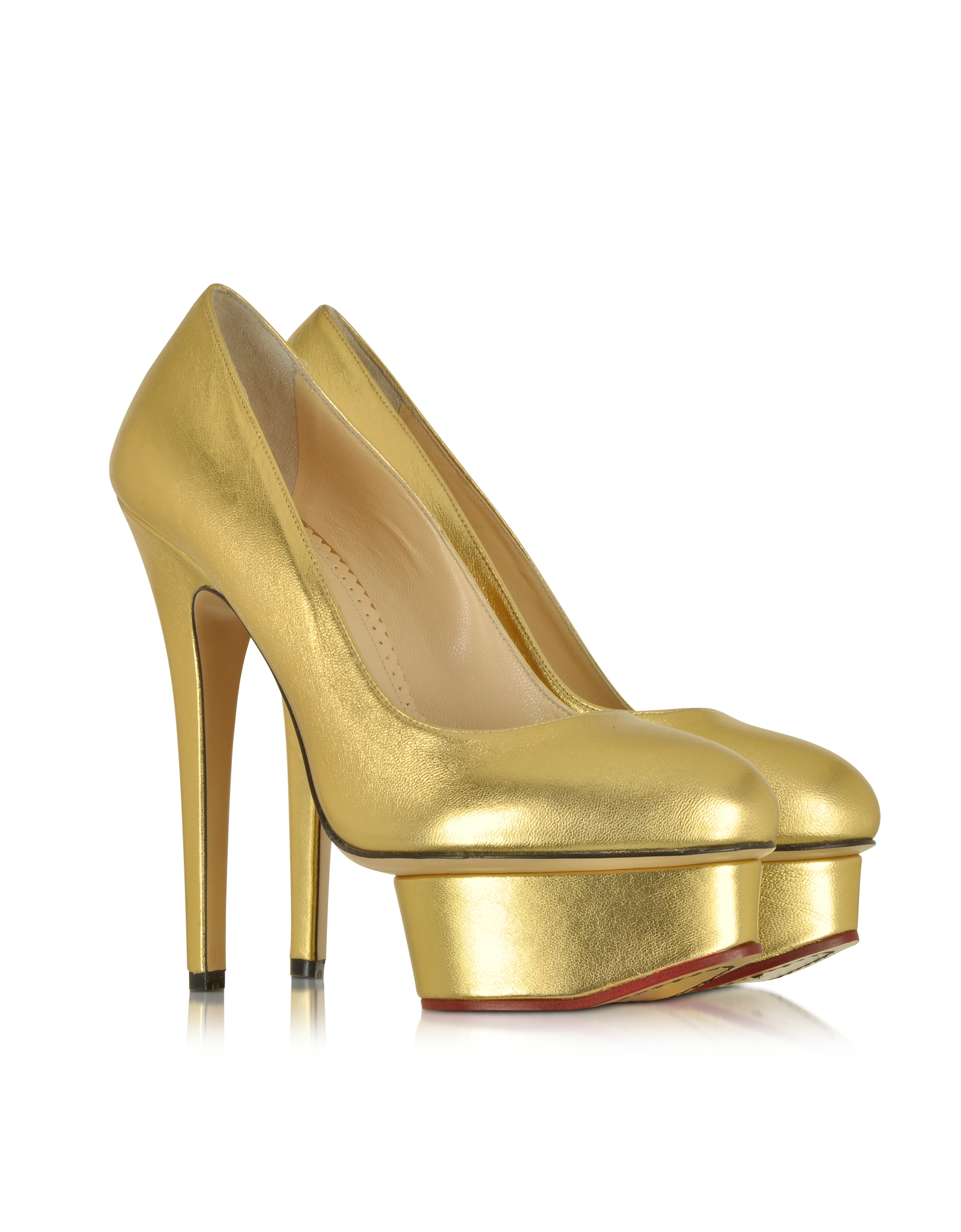 Charlotte Olympia Metallic Dolly Pumps deals 2J5ZGJbD