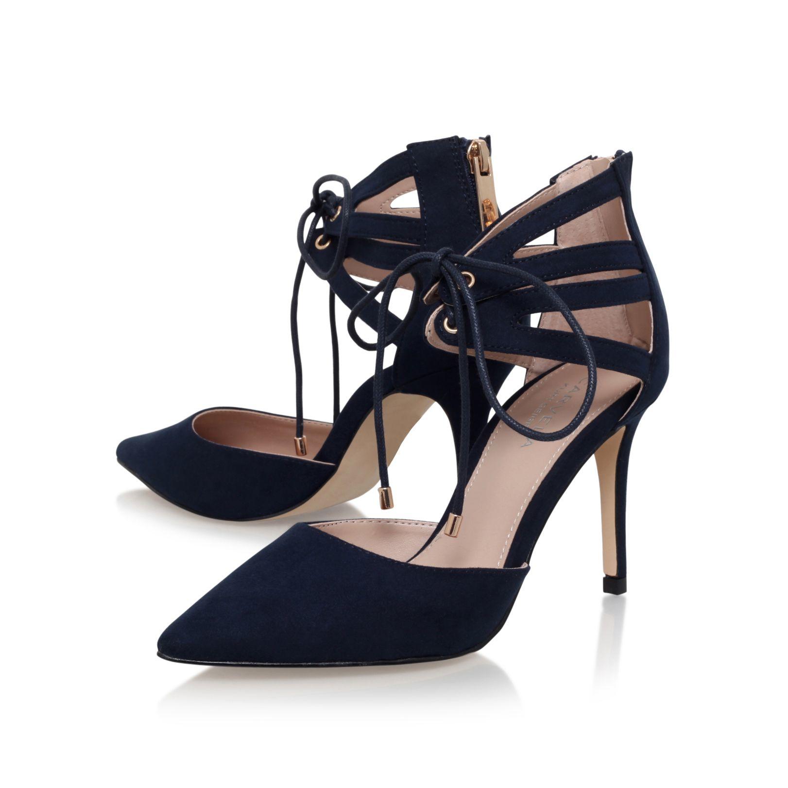 Navy Blue High Heel Sandals