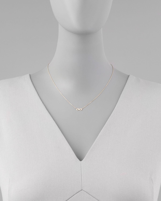 Sydney Evan 14kt yellow gold Infinity diamond necklace - Metallic QU47gKQTFI
