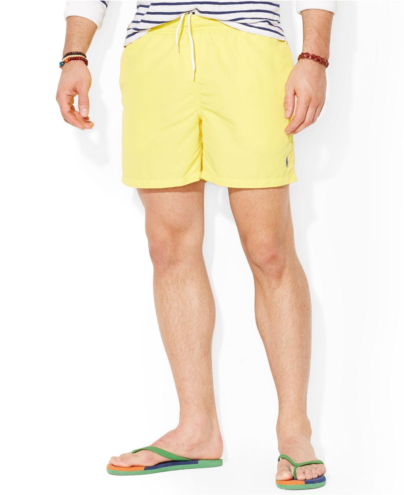 39aeee06396e2 ... germany lyst polo ralph lauren big and tall hawaiian swim shorts in  yellow 7e9bc bc943 ...