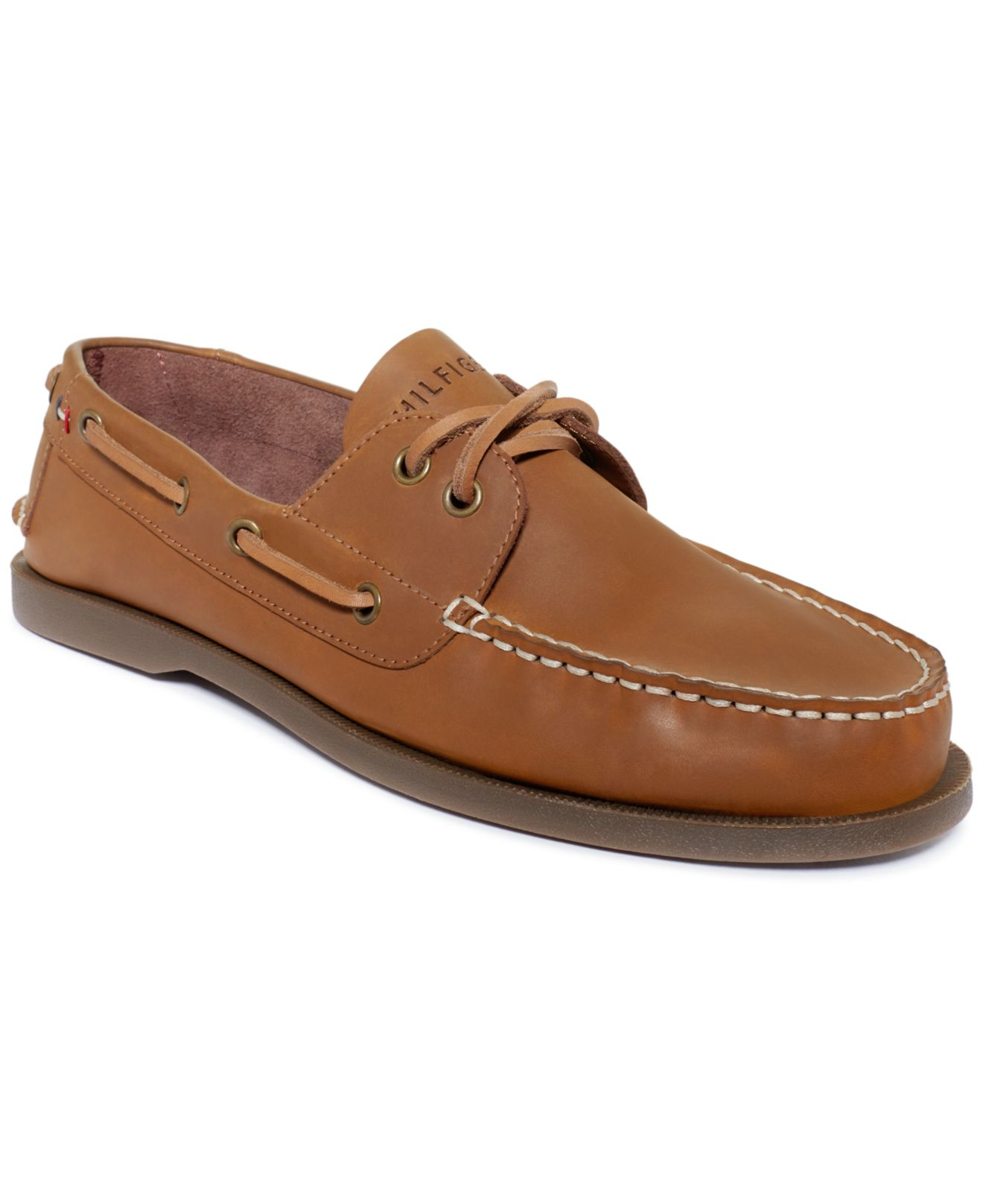 hilfiger s bowman boat shoes in brown for lyst