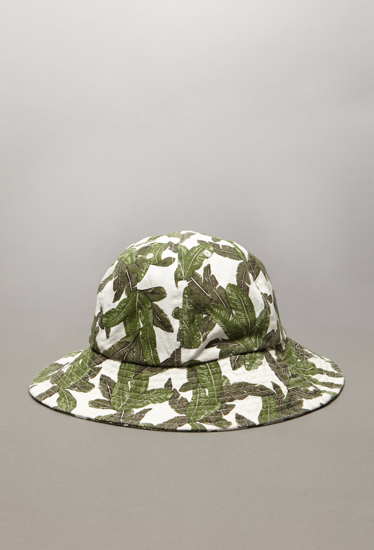 64f1cf9bb7f Lyst Forever 21 Tropical Print Bucket Hat In Green