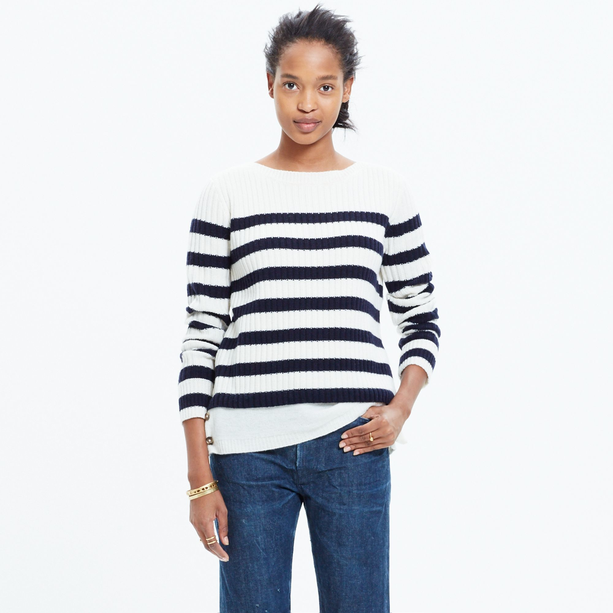 Snowflake Striped Sweater 120
