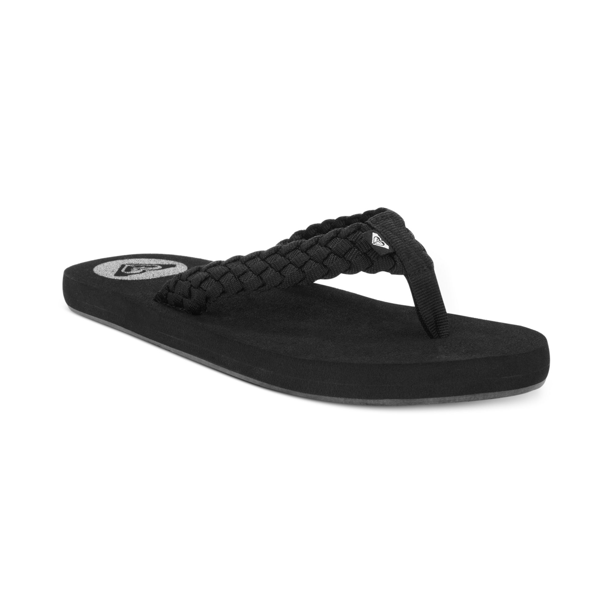 Roxy Rip Current Thong Sandals In Blackblack Black - Lyst-7207