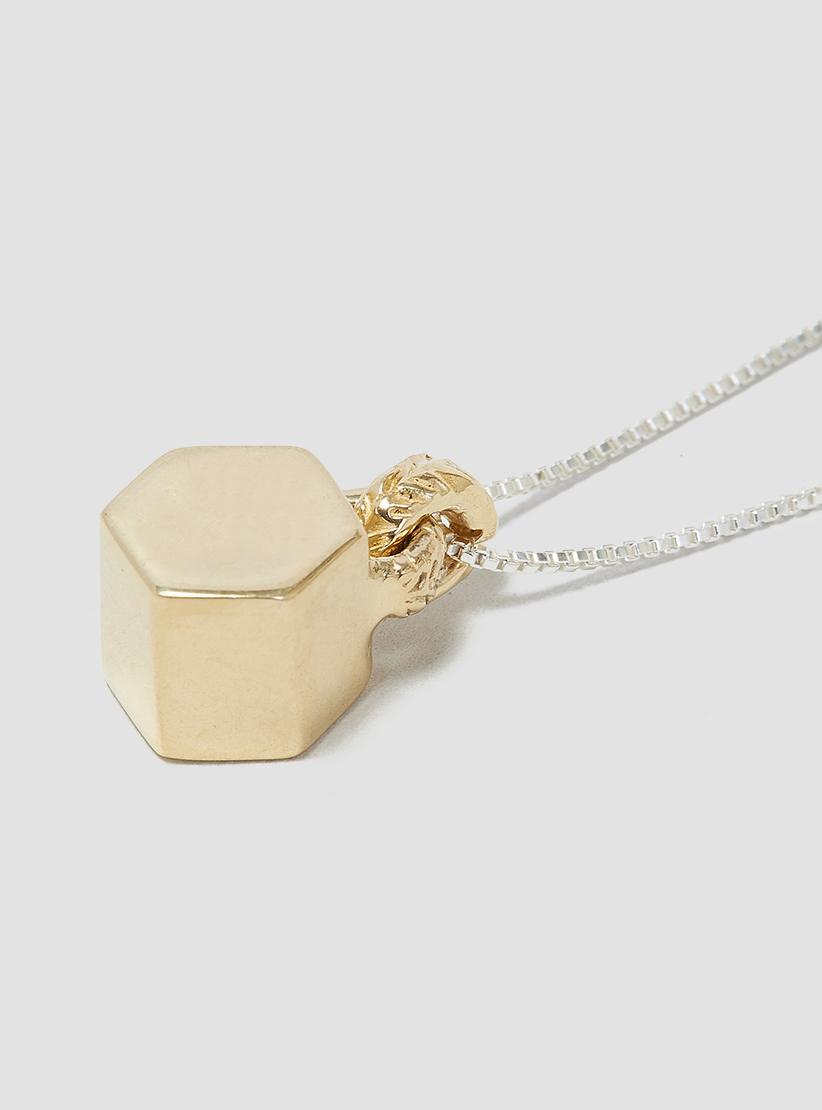 odette new york triton necklace brass in metallic lyst