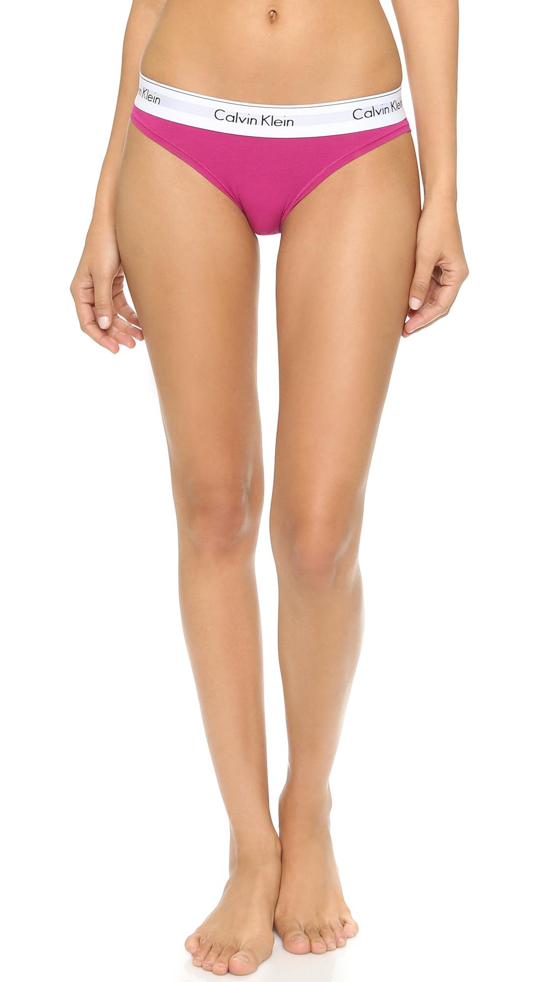 Calvin Klein Modern Cotton Thong Pink Desire In Pink Lyst