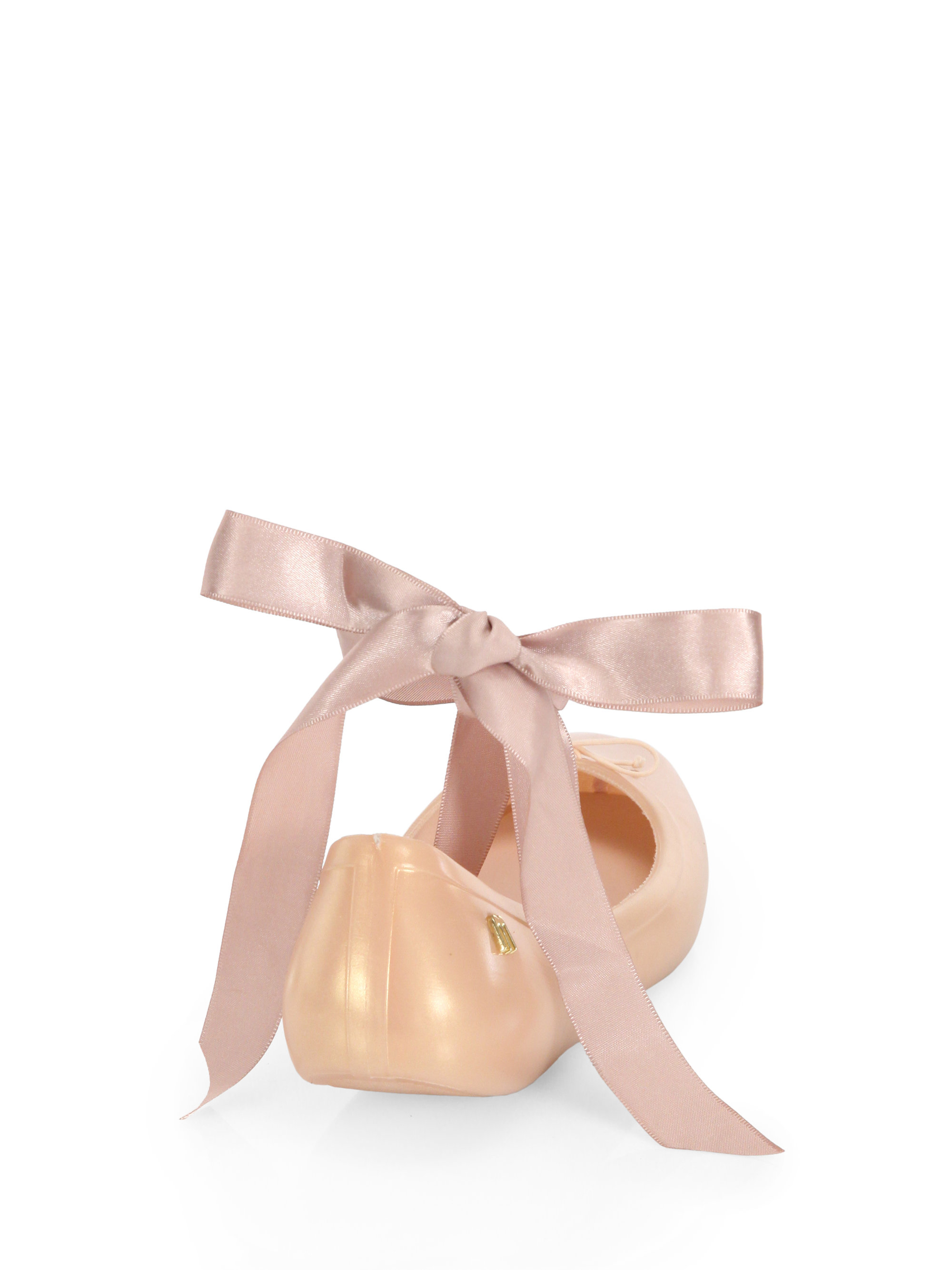 silk ribbon ballet flats in pink lyst