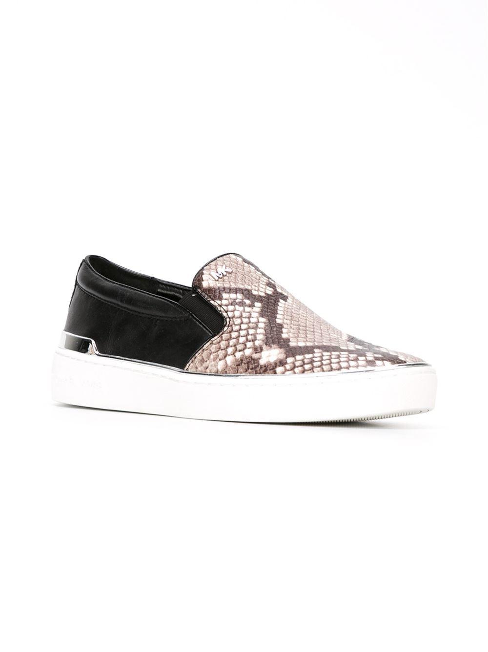 Michael Michael Kors Python Print Slip On Sneakers In