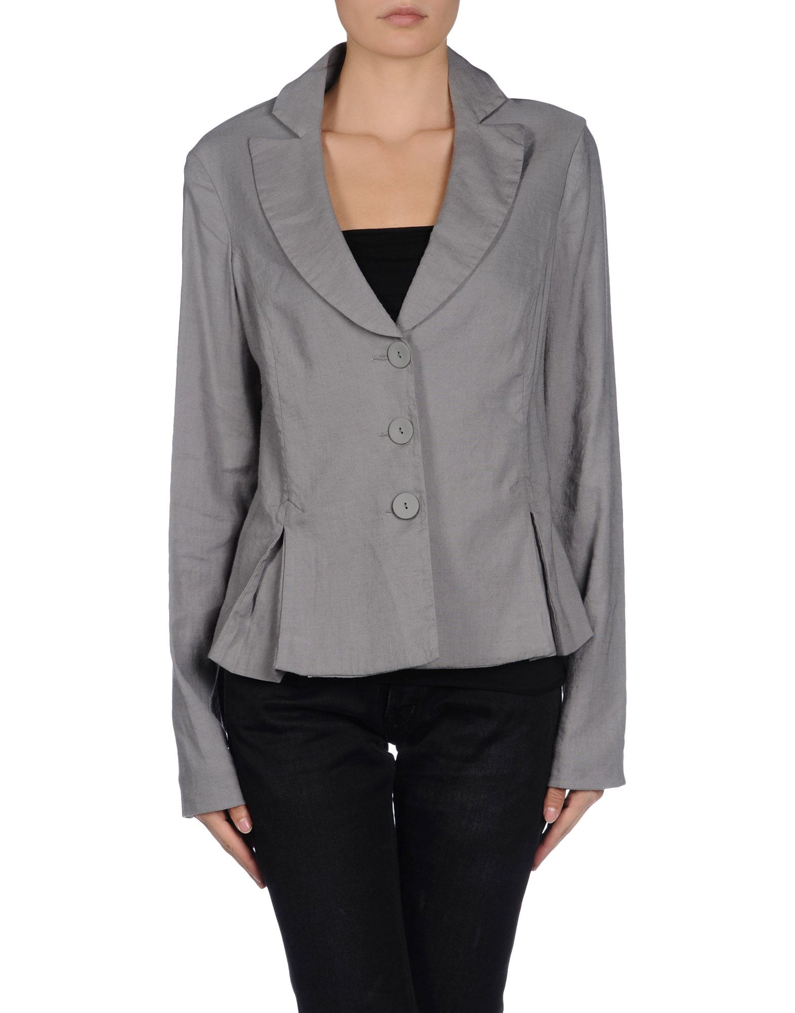 Armani jeans Blazer in Gray | Lyst