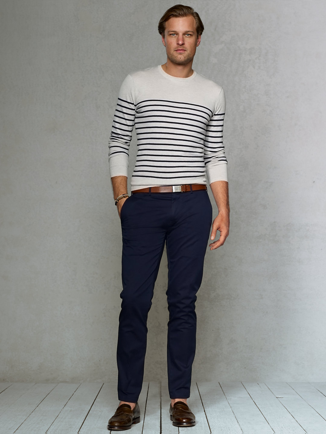 ae3f737b8bd4 Polo Ralph Lauren Slim-fit Stretch-chino Pant in Blue for Men - Lyst
