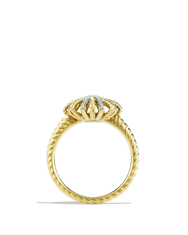 David Yurman Starburst Ring With Diamonds In Gold In