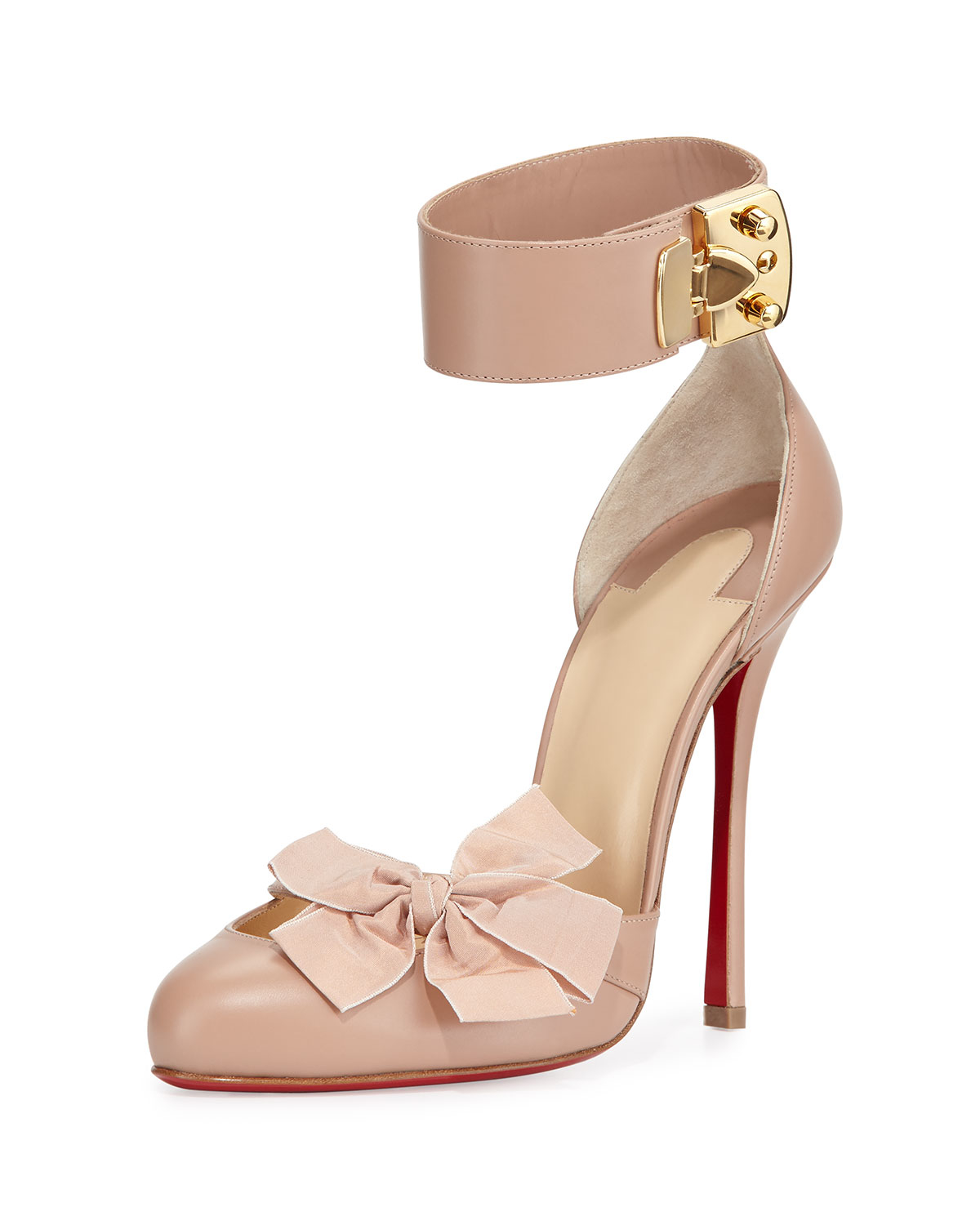 purple louboutins shoes - Christian louboutin Fetish Red-Sole Leather Pump in Beige (NUGE ...