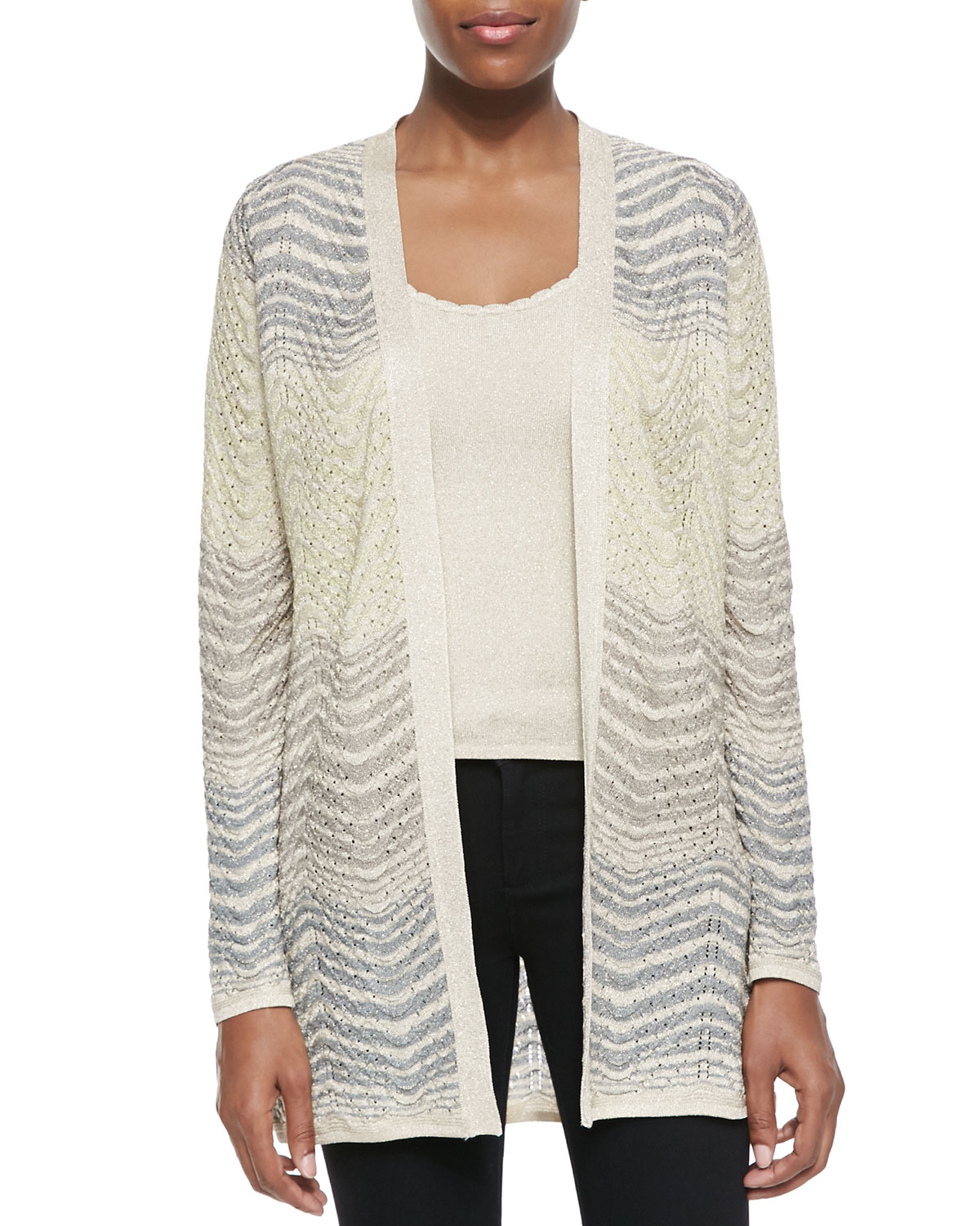 Discount Low Shipping Fee Missoni open-front knit cardigan Cheap Sale Latest sysYuzN