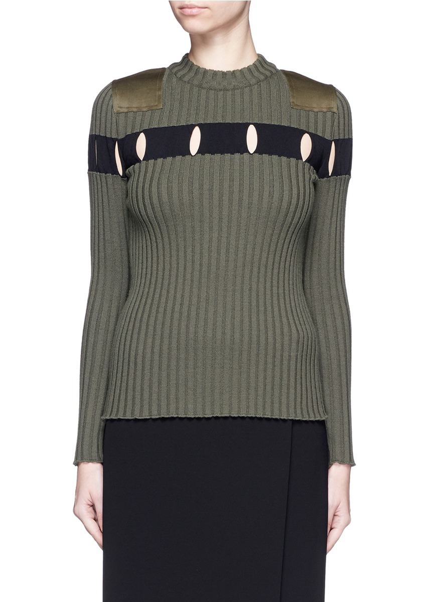 alexander-wang-green-perforated-stripe-m