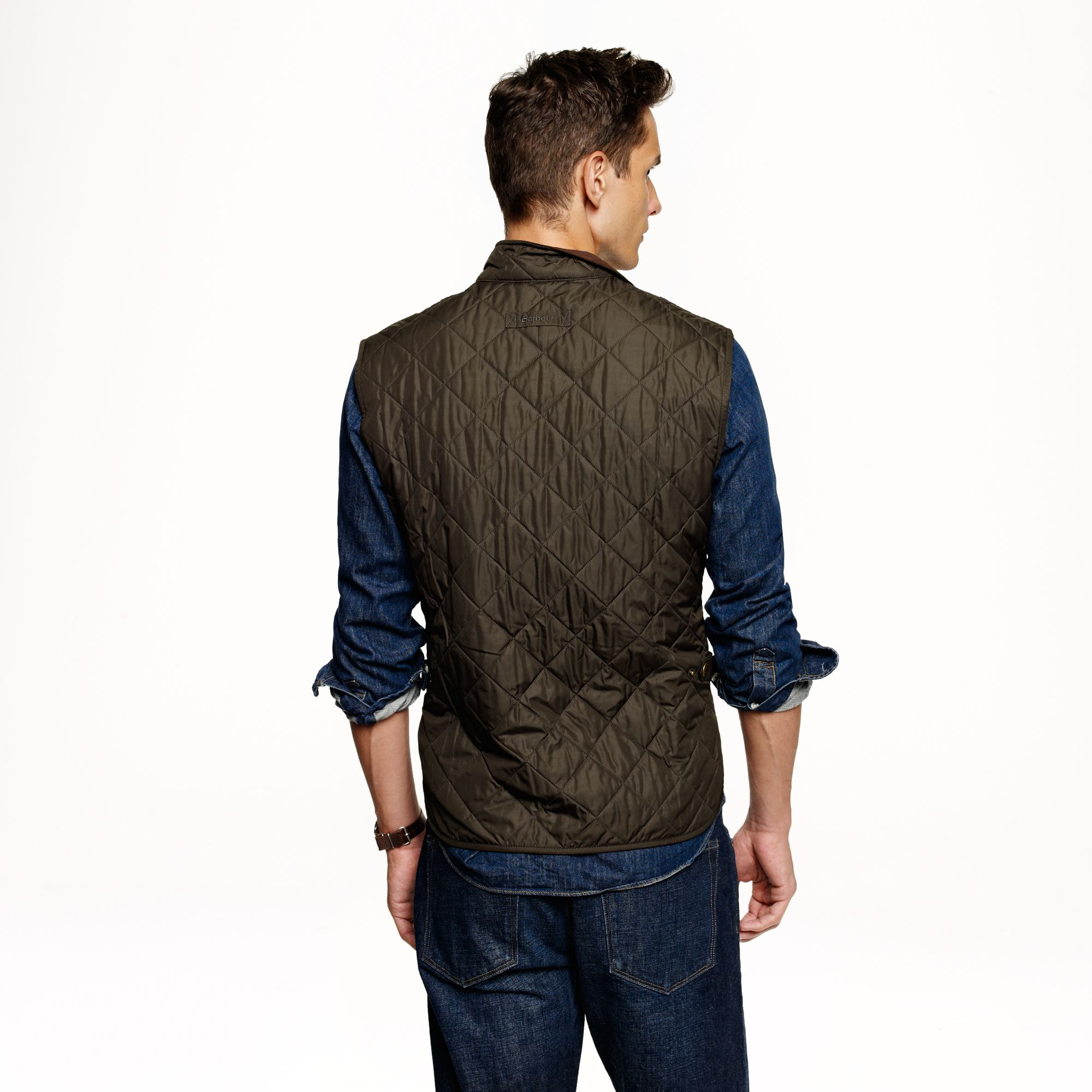 J Crew Barbour Lowerdale Quilted Vest In Green For Men